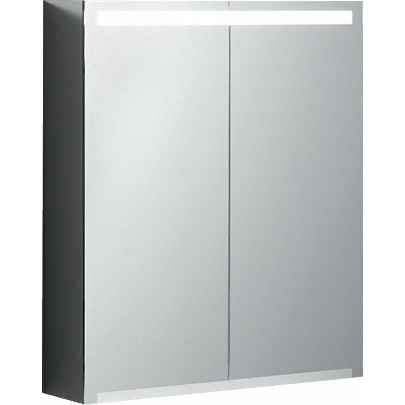 KERAMAG Armoire de toilette Geberit Option avec éclairage, deux portes, largeur
