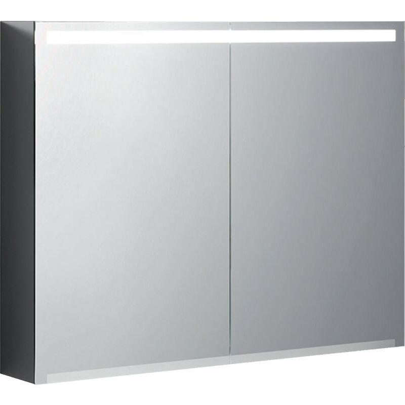 Keramag Armoire de toilette Geberit Option avec éclairage, deux portes,
