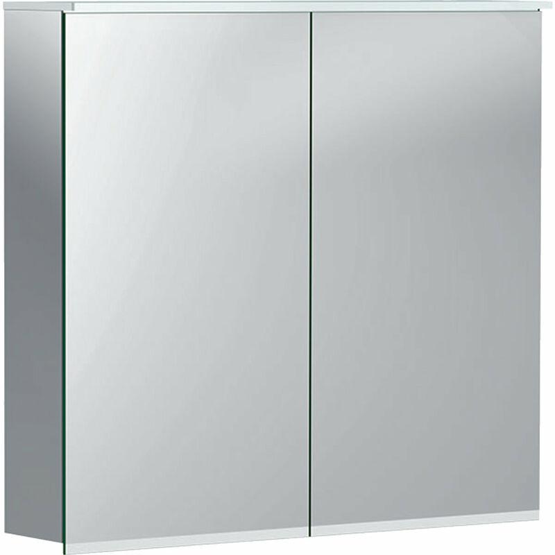 KERAMAG Armoire de toilette Geberit Option Plus avec éclairage, deux portes,