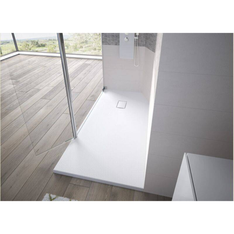 KINEDO Receveur de douche recoupable Kinesurf Pietra, 160 x 90, blanc - Kinedo