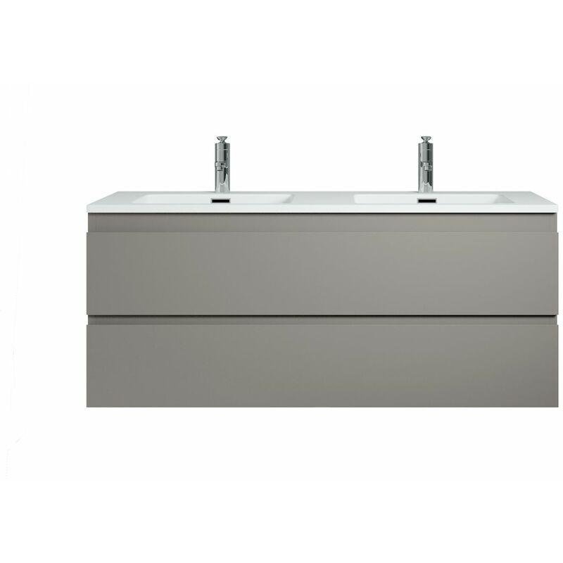 Badplaats - Meuble de salle de bain Angela 120 cm - lavabo blanc mat