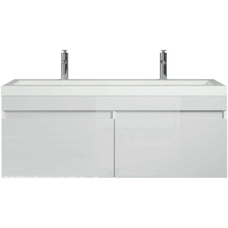 Badplaats - Meuble de salle de bain Avellino 120cm lavabo blanc