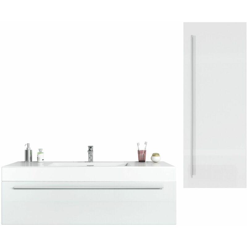 BADPLAATS Meuble de salle de bain Garcia 120 cm Blanc brillant - Élément bas