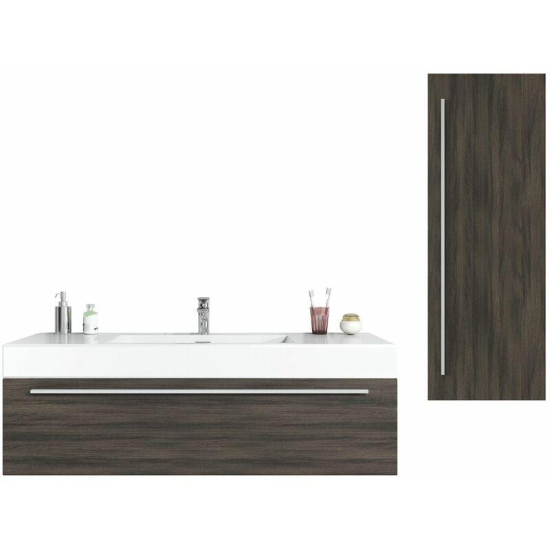BADPLAATS Meuble de salle de bain Garcia 120 cm Chene gris - Élément bas Élément