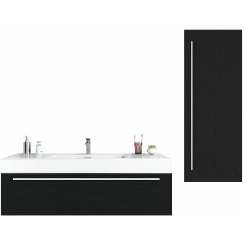BADPLAATS Meuble de salle de bain Garcia 120 cm Bois noir - Élément bas Élément