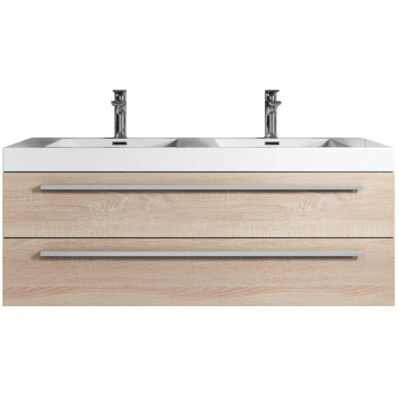 Badplaats - Meuble de salle de bain Rome 120cm lavabo Chene clair –