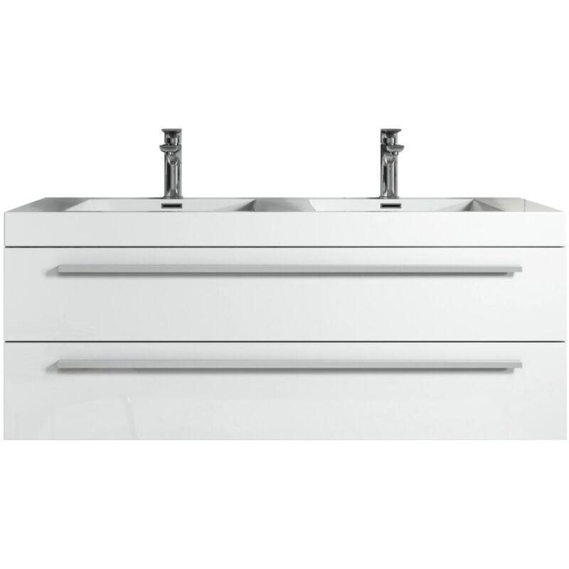 Badplaats - Meuble de salle de bain Rome 120cm lavabo blanc brillant –