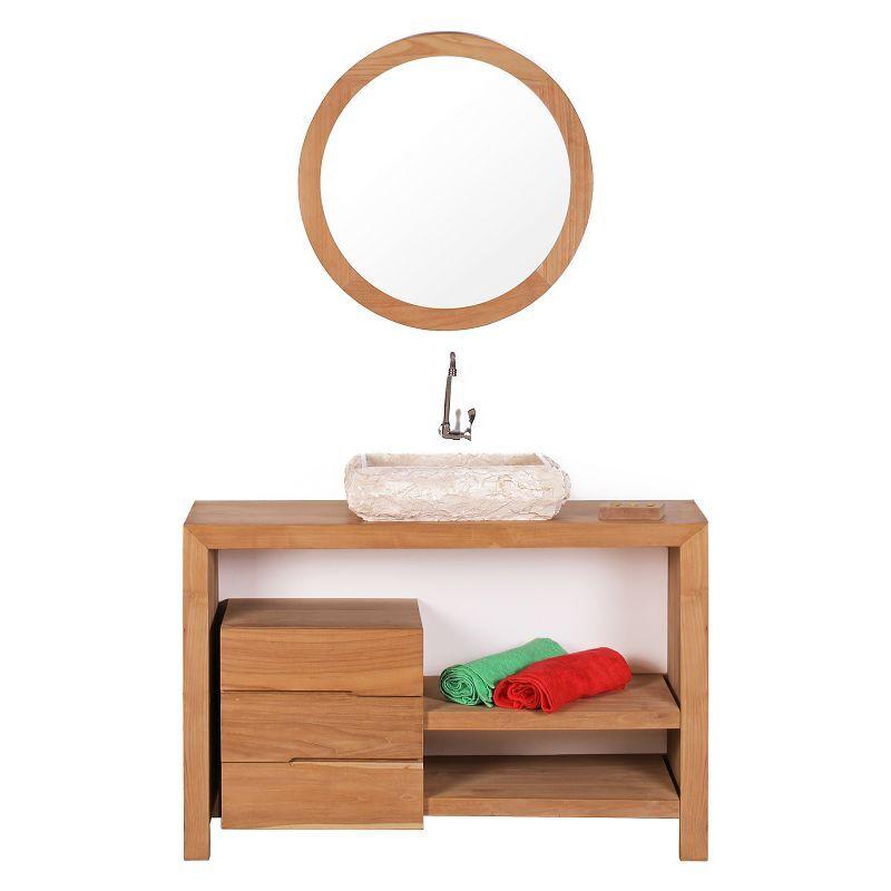 STANO. Meuble salle de bain GLAVA en teck 120 cm - Marron - STANO.