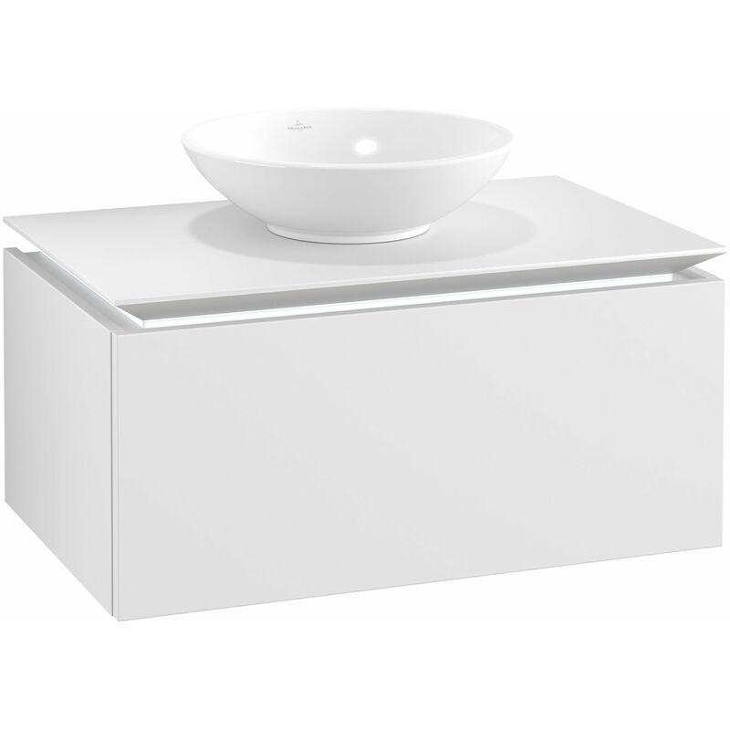 VILLEROY UND BOCH Meuble sous-lavabo Villeroy & Boch Legato B103L0, 800x380x500mm, centré