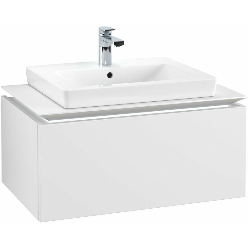 VILLEROY UND BOCH Meuble sous-lavabo Villeroy & Boch Legato B103L6, 800x380x500mm, centré