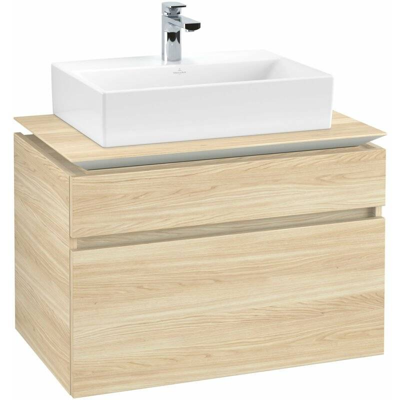 VILLEROY UND BOCH Meuble sous-lavabo Villeroy & Boch Legato B12300, 800x550x500mm, centré