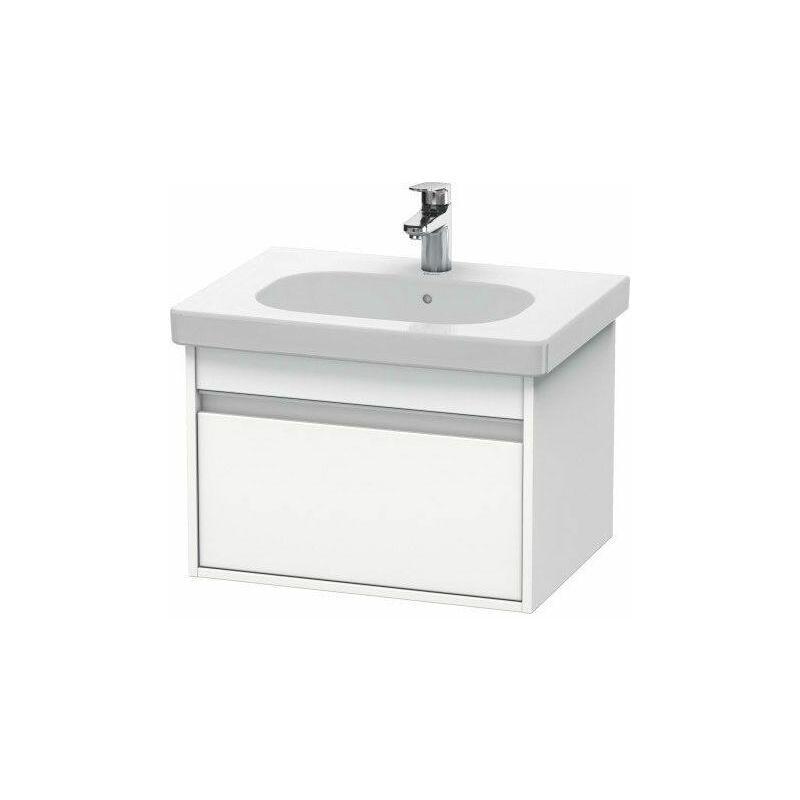 DURAVIT Pack meuble + lavabo Duravit Ketho KT0062 60cm - Blanc mat - Blanc mat