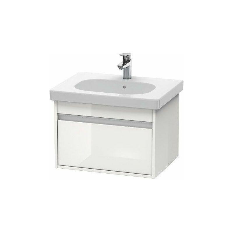 DURAVIT Pack meuble + lavabo Duravit Ketho KT0062 60cm - Blanc brillant - Blanc