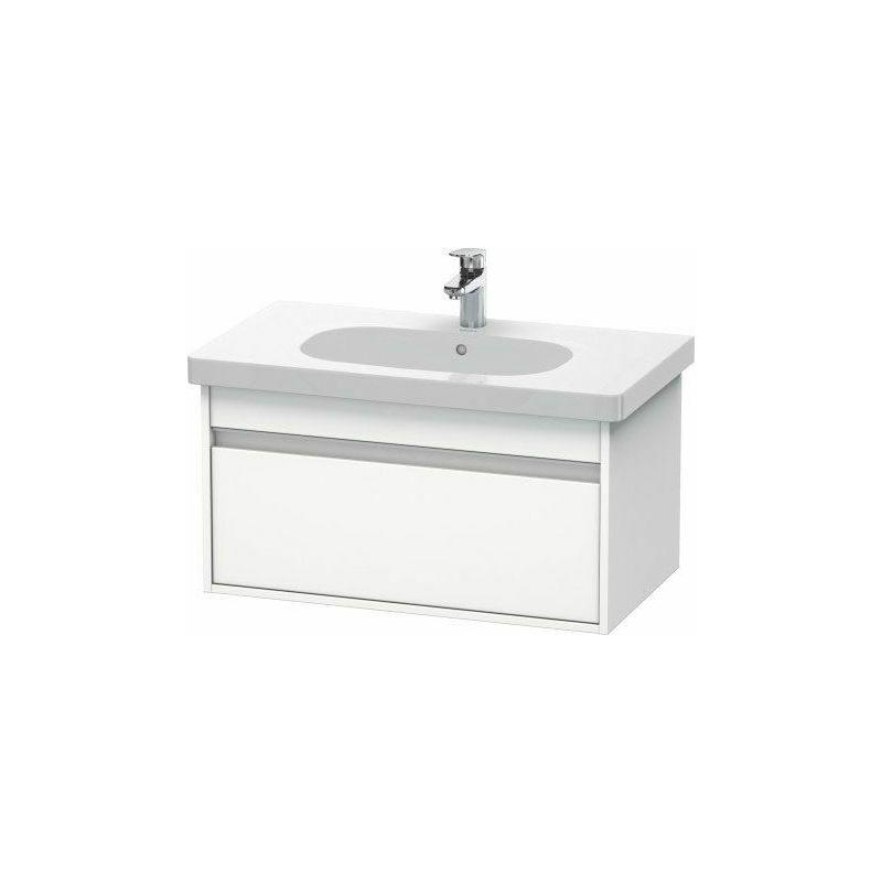 DURAVIT Pack meuble + lavabo Duravit Ketho KT0063 80cm - Blanc mat - Blanc mat