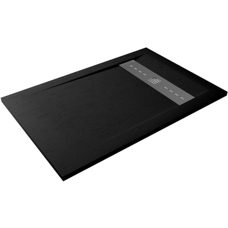 Hidronatur - Receveur de douche extra-plat RUBI 90x140 noir