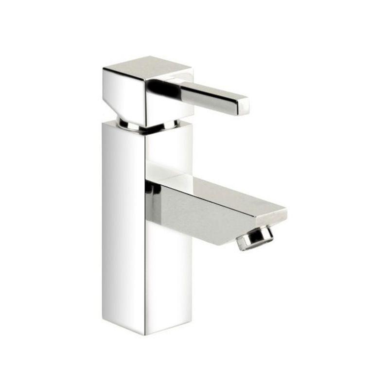 Robinet Mitigeur de lavabo vasque design cubique chrome cartouche