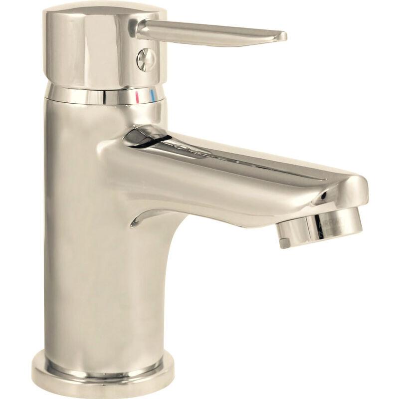 Robinet mitigeur lavabo vasque laiton chrome vidage tirette cartouche
