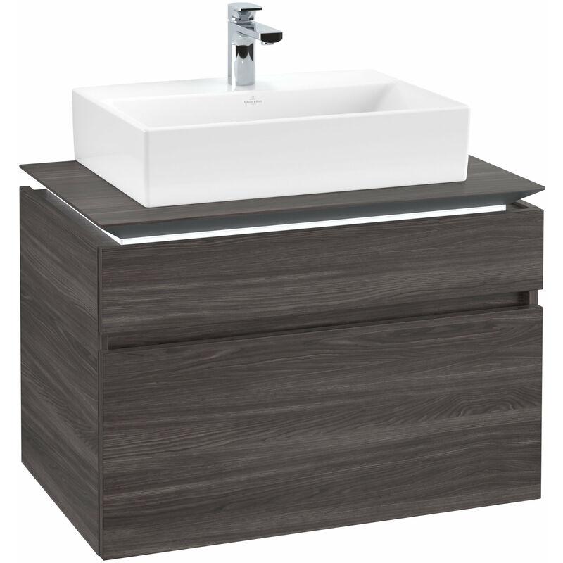 VILLEROY UND BOCH AG Villeroy & Boch Legato Meuble sous-lavabo B123L0, 800x550x500mm, Centre