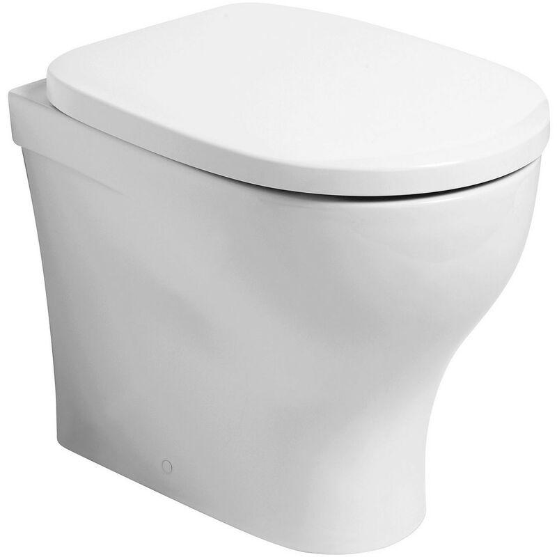 CAESAROO Cuvette wc sur le sol en céramique 34x54,5 cm   Blanc brillant