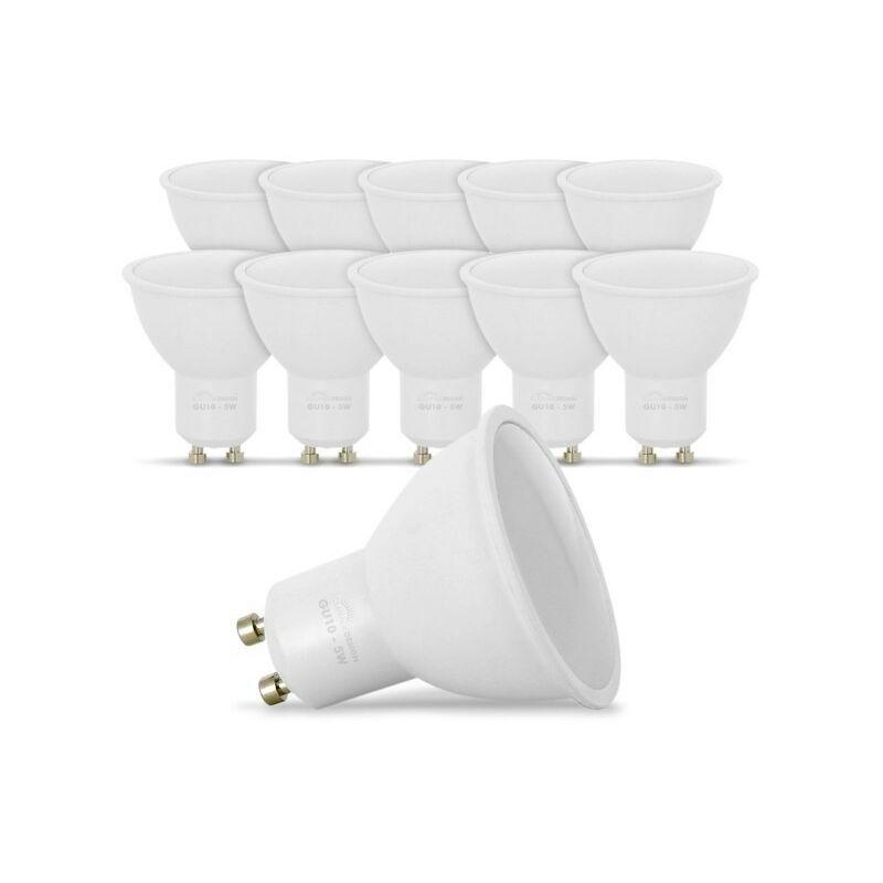 ECLAIRAGE DESIGN Lot de 10 Ampoules LED GU10 5W eq. 40W 4000K Blanc Naturel - ECLAIRAGE