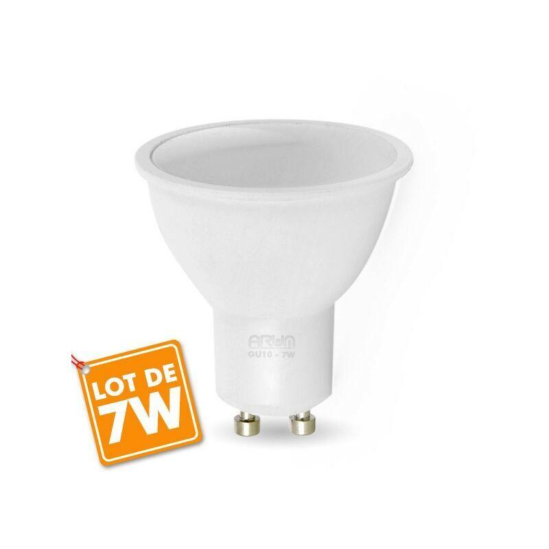 ECLAIRAGE DESIGN Lot d'Ampoules LED GU10 7W eq. 60W   Quantité/Teinte: Lot de 3 Blanc