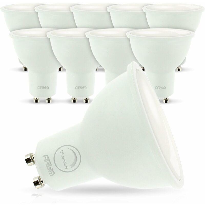 ECLAIRAGE DESIGN lot de 10 Ampoules Led GU10 7W eq. 60W Dimmable   Température de