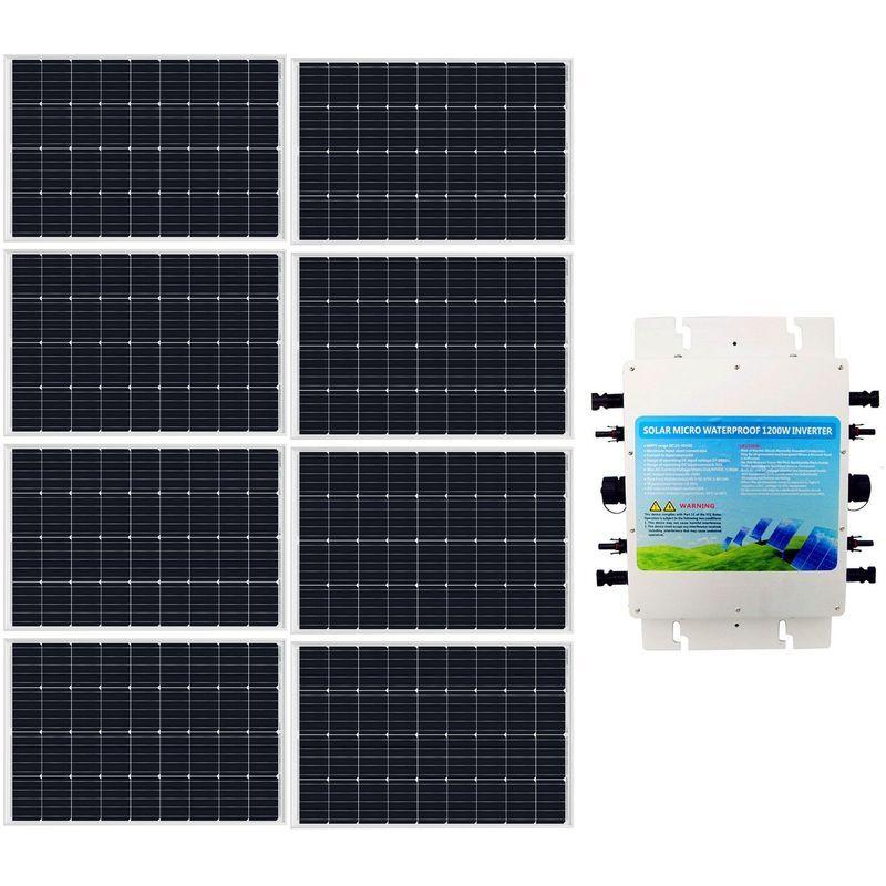 ECO-WORTHY 960W Solar Grid Tie kit 8x 120W Panel + 1200W Waterproof 230V Inverter