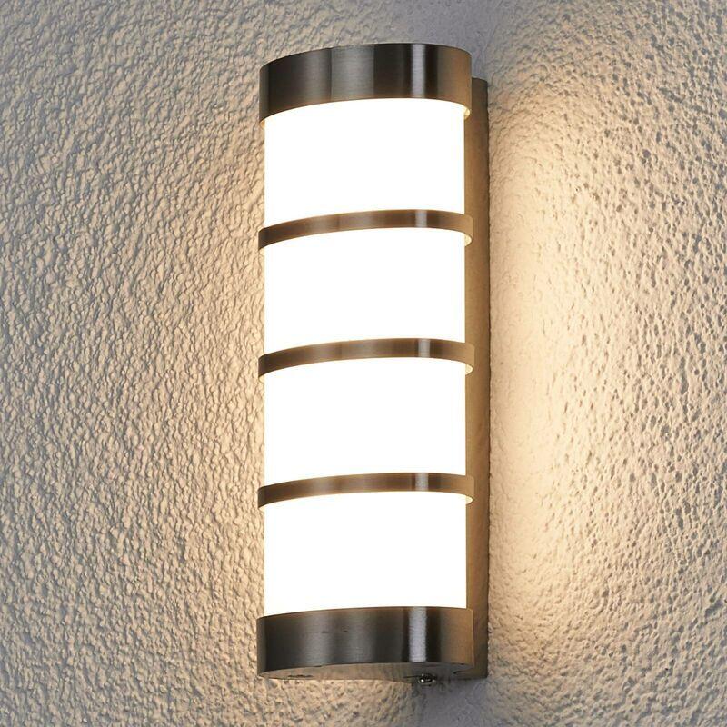 LUCANDE LED Applique Exterieur 'Leroy' en inox