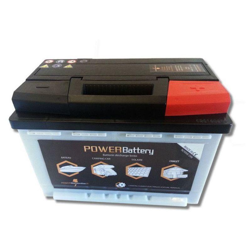 POWER BATTERY Batterie décharge lente Power Battery 12v 100ah