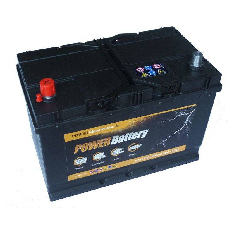 POWER BATTERY Batterie décharge lente 12v 75ah - Power Battery