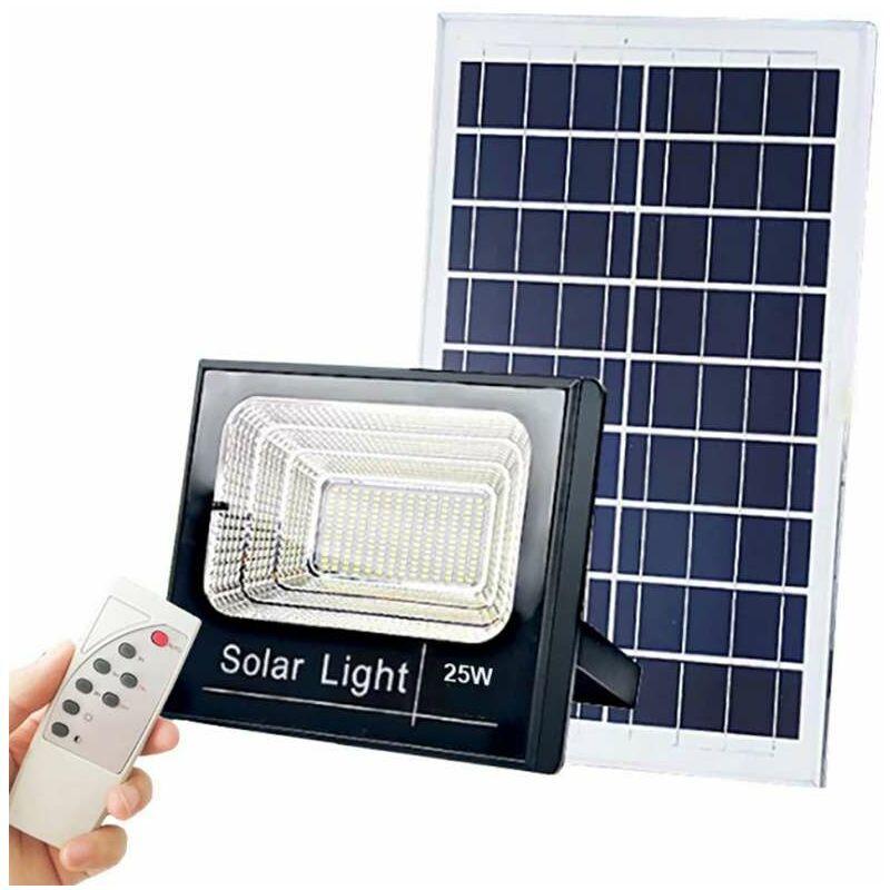 OPTONICA Projecteur LED Solaire 20W 1800Lm 6,4V/11Ah - Blanc Jour 6000K