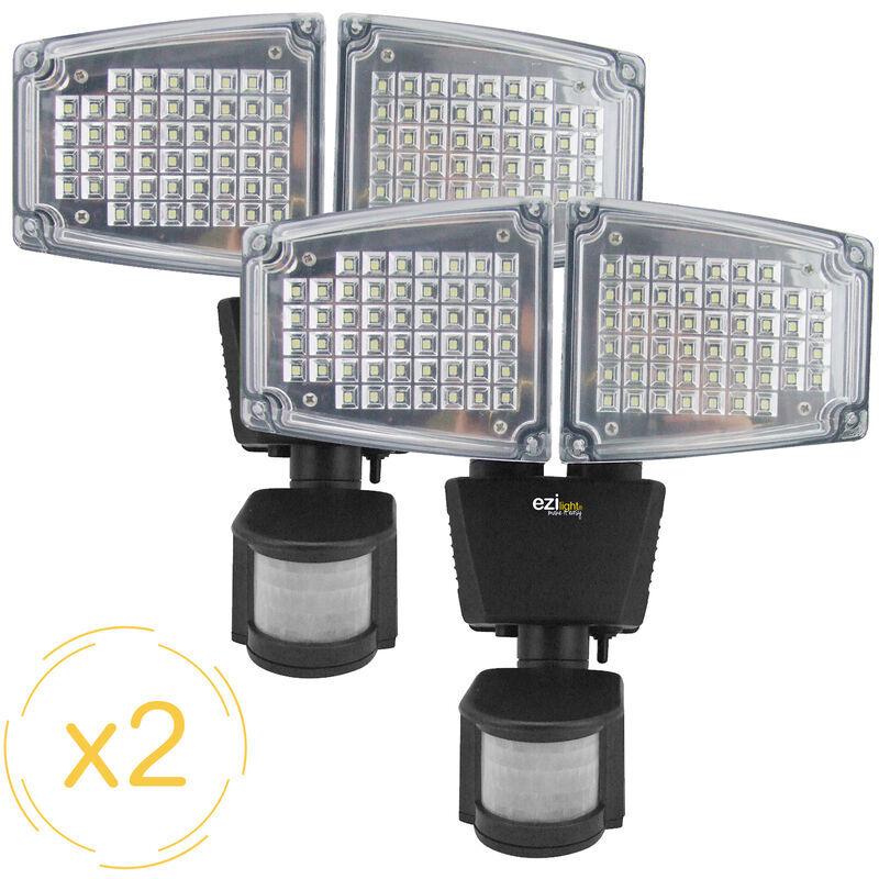 EZILIGHT Projecteur solaire LED ® Solar pro 2 - Pack de 2 lampes - Ezilight