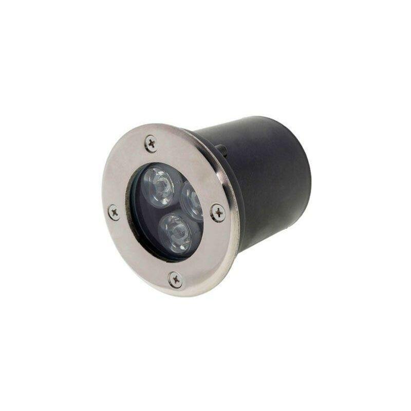 SILAMP Spot Extérieur Encastrable LED IP65 220V Sol 3W 18° - Blanc Froid 6000K