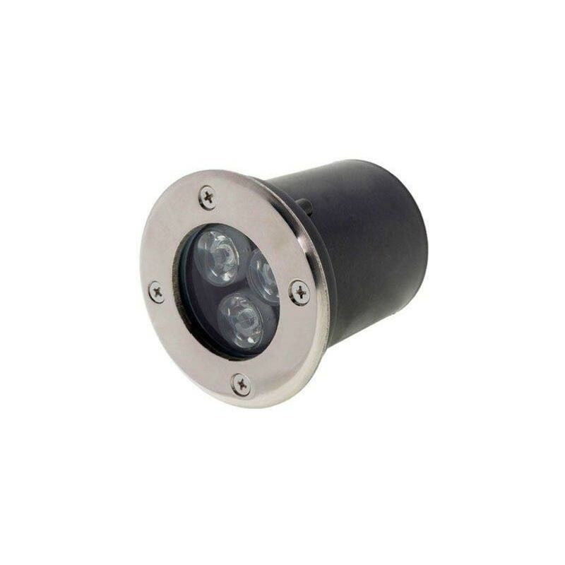 SILAMP Spot Extérieur Encastrable LED IP65 220V Sol 3W 18° - Blanc Chaud 2300K
