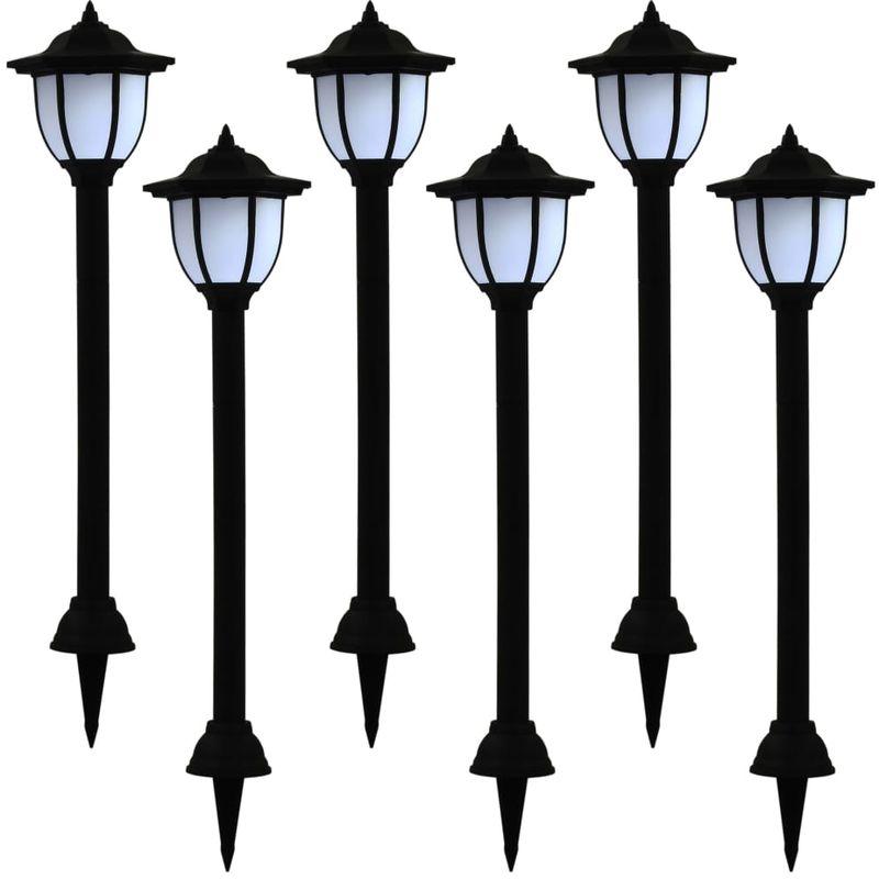 Topdeal VDTD19872_FR Lampes solaires à LED d'extérieur 6 pcs Noir
