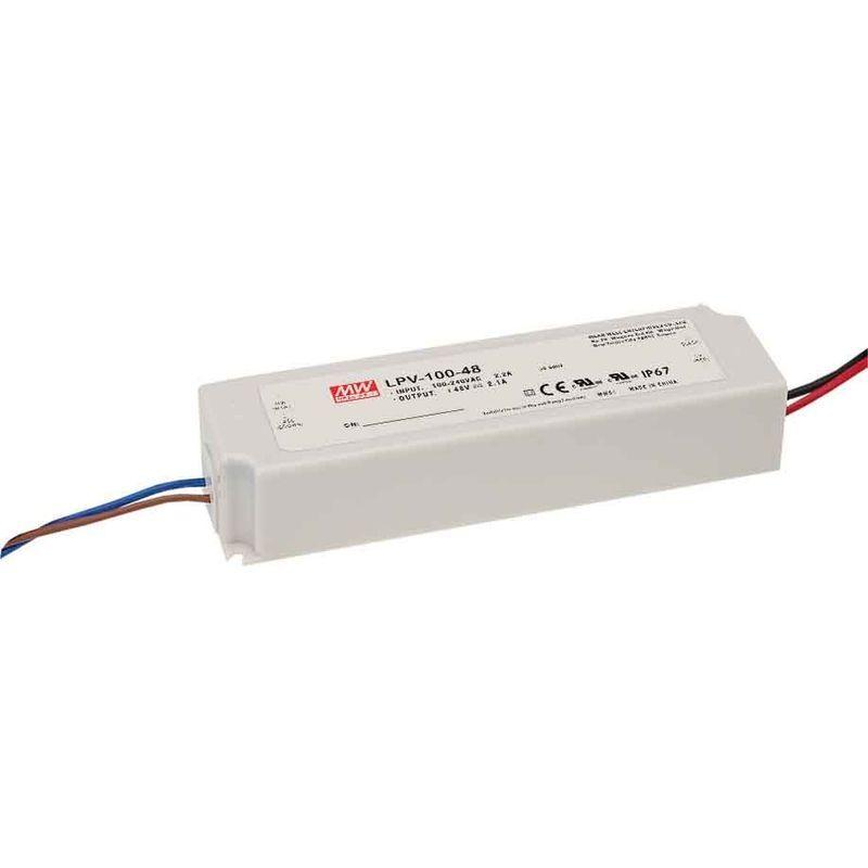MEAN WELL Transformateur LED 100W 90-264V à 12V DC étanche IP67 LPV-100-12