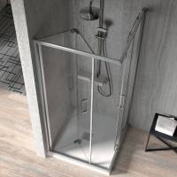 Kassandra - Paroi de douche accès en angle 1 porte pliante 80 cm + 1 <br /><b>829 EUR</b> ManoMano.fr