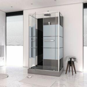 AURLANE Cabine de douche rectangle 110x80x225cm - SCRATCHY 110 - AURLANE - Publicité