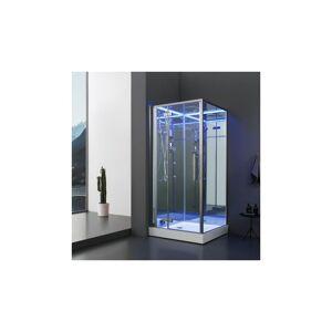 ARCHIPEL® Cabine douche Hammam Archipel® Pro 100G MIROIR (100x100cm) 1 à 2 places - Publicité
