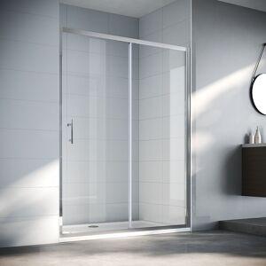 SIRHONA Porte de douche Coulissante 140x185 cm Porte de douche coulissante - Publicité