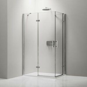 BERNSTEIN Paroi de douche d'angle en verre véritable de 8mm NANO transparent - Publicité