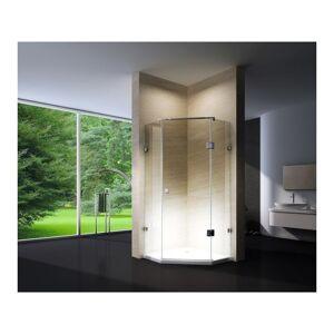 BERNSTEIN Paroi de douche pentagonale en verre véritable NANO EX415 - 90x90x195cm - Publicité