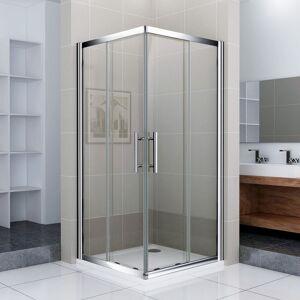 AICA SANITAIRE Porte de douche 76x76x187cm Porte coulissante Cabine de douche accès - Publicité
