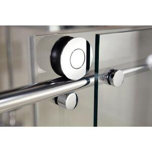 SCHULTE Porte de douche coulissante, verre 8 mm anticalaire, profilé aspect - Publicité