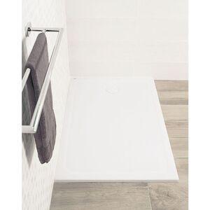 ALTERNA Receveur DESIGN ultraplat 120 x 90 cm Antiderapant bonde a droite - Publicité