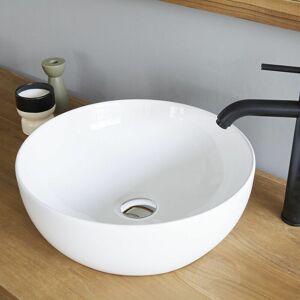 BOIS DESSUS BOIS DESSOUS Vasque bol en céramique blanche - Blanc - Publicité