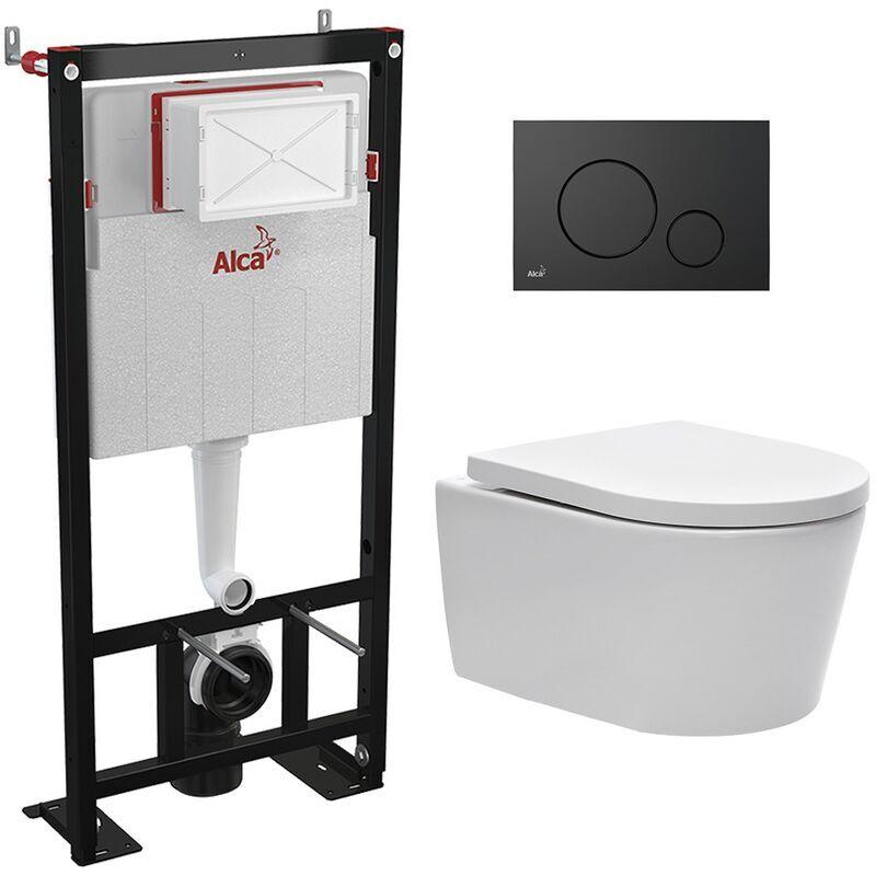 Alca bati support autoportant + WC suspendu sans bride et fixations