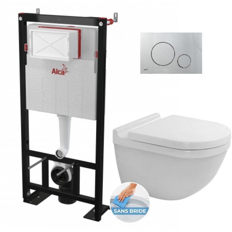 Alca Pack Bâti autoportant+ WC Duravit Starck3 sans bride fixations
