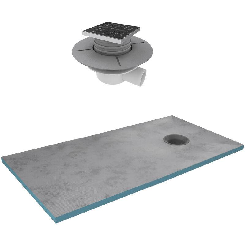 AURLANE Bac receveur de douche à carreler 160x90cm recoupable sur mesure +