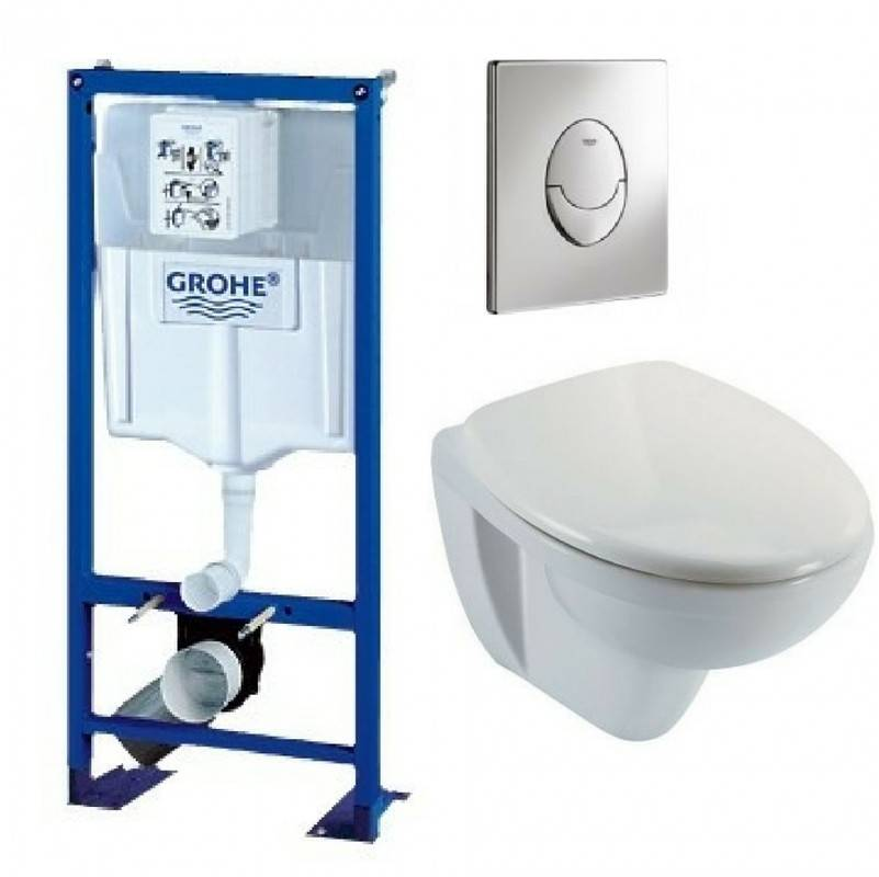 GROHE Bati support wc suspendu grohe autoportant plaque grise first